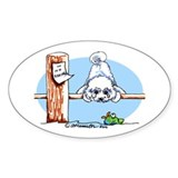 Bichon Frise Go Fish Decal