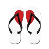 Whitney Big Heart Flip Flops