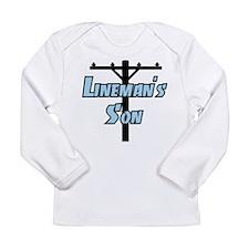 Linemans son Long Sleeve T-Shirt