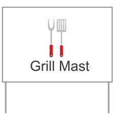 Grill Master Spatula and Fork Yard Sign