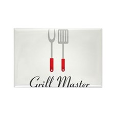 Grill Master Spatula and Fork Rectangle Magnet