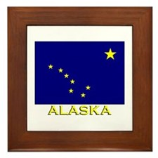 Alaska Flag Gear Framed Tile
