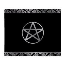 Silver Pentacle Throw Blanket