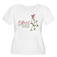 Official Mistletoe Tester Plus Size T-Shirt