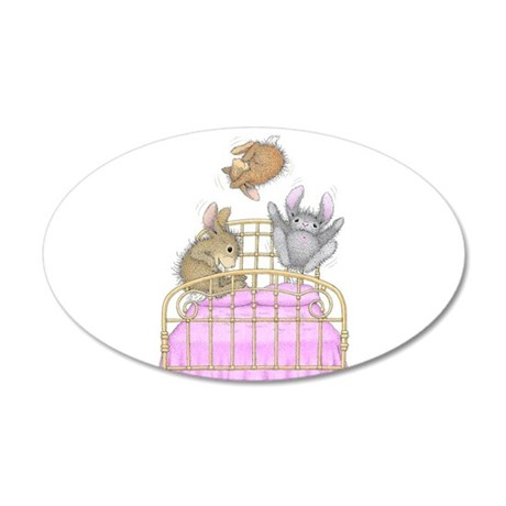 HappyHoppers® - Bunny - 35x21 Oval Wall Decal