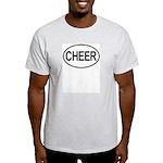 Cheer Oval Ash Grey T-Shirt
