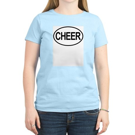 Cheer Oval Women's Pink T-Shirt
