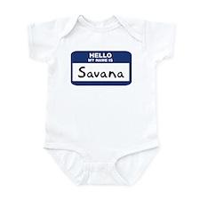 Hello: Savana Infant Bodysuit