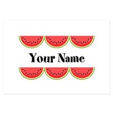 Watermelons Personalized 3.5 x 5 Flat Cards