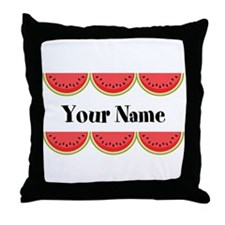 Watermelons Personalized Throw Pillow