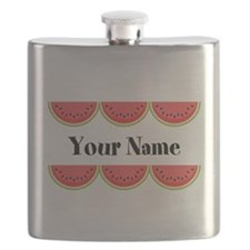 Watermelons Personalized Flask