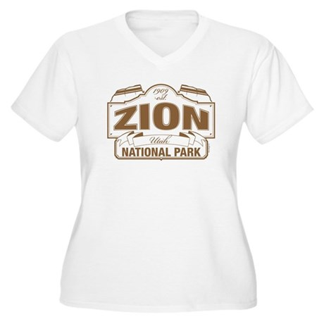 Zion National Park Women's Plus Size V-Neck T-Shir