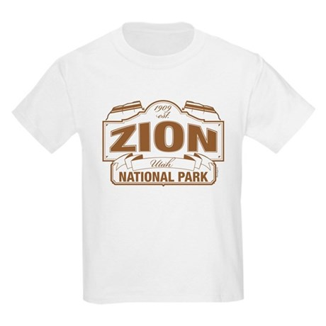 Zion National Park Kids Light T-Shirt