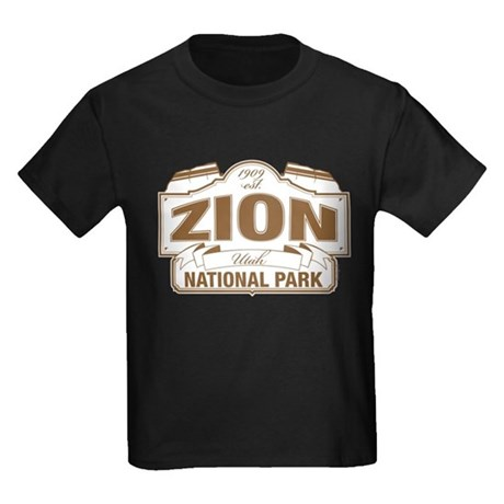 Zion National Park Kids Dark T-Shirt