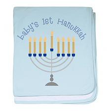Baby's 1st Hanukkah baby blanket