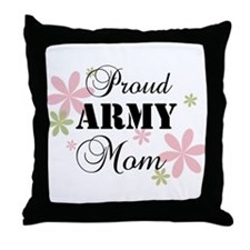 Army Mom [fl camo] Throw Pillow