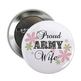 "Army Wife [fl camo] 2.25"" Button"