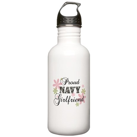 Navy Girlfriend [fl camo] Stainless Water Bottle 1