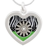 wheel green zebra copy.jpg Silver Heart Necklace