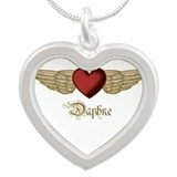 Daphne the Angel Silver Heart Necklace
