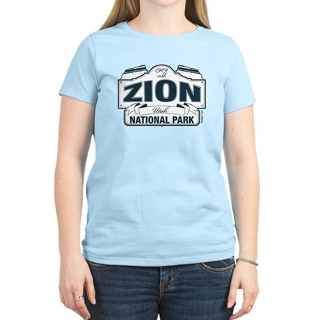 Zion National Park Blue Sign Women's Light T-Shirt