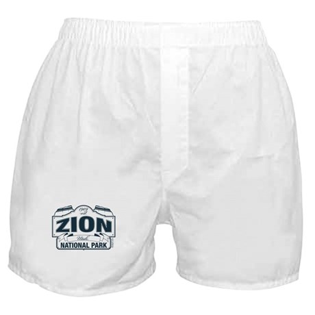 Zion National Park Blue Sign Boxer Shorts