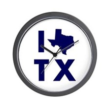 I Love Texas Wall Clock