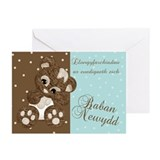 Welsh New Baby Congratulations Card (Pk of 10)