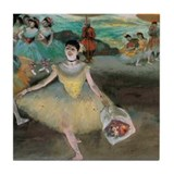 Degas Dancer with Bouquet Tile Coaster
