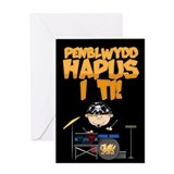 Drummer Welsh Happy Birthday To You Greeting Card