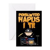Drummer Welsh Happy Birthday Card (Pk of 10)
