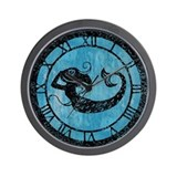 mermaid-worn_cl.jpg Wall Clock