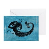 mermaid-worn_13-5x18.jpg Greeting Cards (Pk of 20)