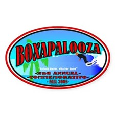 Boxapalooza Oval Decal