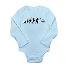 Disc Golf Long Sleeve Infant Bodysuit