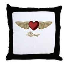 Ginger the Angel Throw Pillow