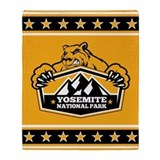 Yosemite Gold Bear Throw Blanket