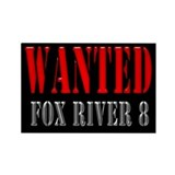 Wanted - Fox River 8 Rectangle Magnet
