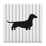 Cute Dachsie lover Tile Coaster