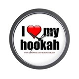 """Love My Hookah"" Wall Clock"