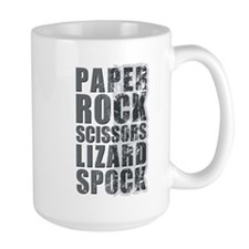 paper rock scissors lizard spock Mug