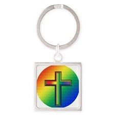 De Colores Cross Square Keychain