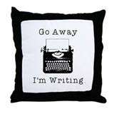 GO AWAY - Writing Throw Pillow