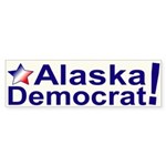 Alaska Democrat Bumper Sticker