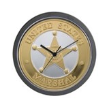 US Marshal Wall Clock