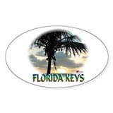 Oval Sticker Florida Keys