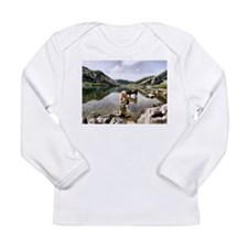 Cows in Lakes of Covadonga, Asturias Long Sleeve T
