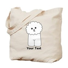 Bichon Frise Dog. Custom Text. Tote Bag