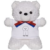 Bichon Frise Dog. Custom Text. Teddy Bear