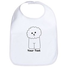 Bichon Frise Dog. Custom Text. Bib